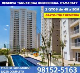 Apartamentos de 2 Quartos Lazer Completo Residencial Itamaraty Grátis, ITBI e Registro