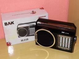 BAK am/fm/sw multi bandas produto novo para os amantes dos bons radios