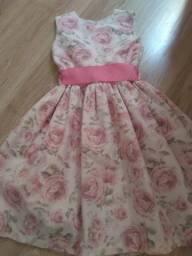 Vestido infantil Flores Tam 6