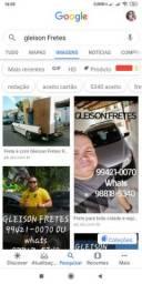 Frete de confiança até no Google é com GLEISON FRETES