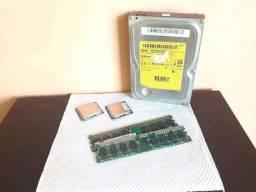 Memórias 1GB DDR2 + Processadores (ARAPIRACA-AL)