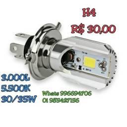 Led Farol Moto H4 2.500 Lumens