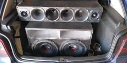 Caixa de som com 2 alto falantes ultravioleta de 2.2