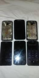 6- celulares por 130,00 R$ lote 3 Nokia 3 moto é2