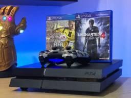 PS4 com 2 jogos