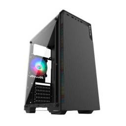 1826 - Cpu Gamer Amd 3600, Ssd 128Gb, Gigabyte, Mem 8Gb, Fonte 500, Gt740, Bluecase Bg030