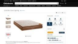 Vendo cama king size Ortobom ouro spring