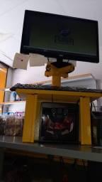 Caixa + Monitor + Teclado + Computador + Mouse + Leitor de Código de Barras + Impressora