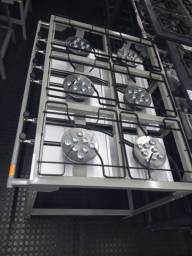Fogão industrial alta pressão novo 6 bocas com chapa 650$ cleber