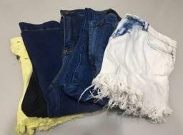 Lote jeans feminino.