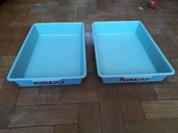 Lote 2 bandejas sanitárias para gatos