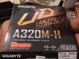 Placa mãe gigabyte a320m-h am4