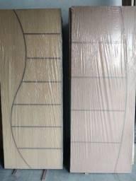 Porta de madeira frisada com duratree -  90 cm