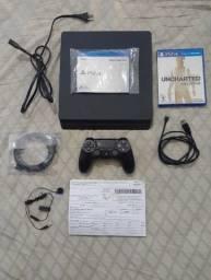 PS4 1 TB (Pouco Usado) + Jogos + Acessórios