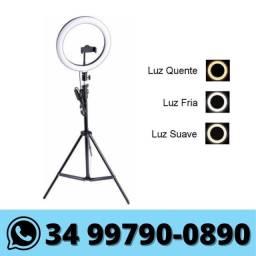 Ring Light 10 Polegadas c/ Suporte Celular e Tripé 2m