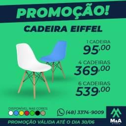 Cadeira Charles Eames Wood Design Eiffel 7 Cores  Promoção válida para o Mês de Junho