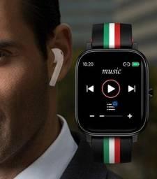 Smartwatch Colmi P12 Faz Ligação E Tem 4GB De Memória + Película grátis