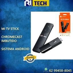 Xiaomi Mi Tv Stick Streaming Full Hd Bluetooth - melhor que o chrome cast