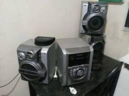 Aparelho de som 3em1 cd fita radio am fm com auxiliar