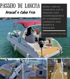Título do anúncio: Aluguel de Lancha Cabo Frio e Arraial do Cabo