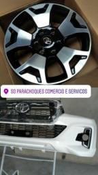 Parachoque dianteiro Hilux SRX transformação 2020