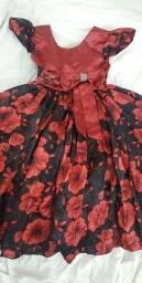 Vestido infantil usado uma única vez social, super lindo!