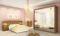Título do anúncio: Roupeiro Las Vegas 2Pts com Espelhos 100%MDF - Entrega Rápida