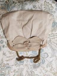 Bolsa de couro legítimo e correntinha Arezzo original