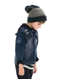 Jaqueta Jeans com Capuz PUC - Tamanho 8 Anos
