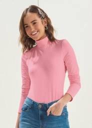 Blusa rose manga longa alta $ 40,00 entrega grátis