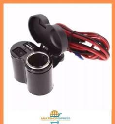 Tomada Carregador USB de Celular e GPS para Moto