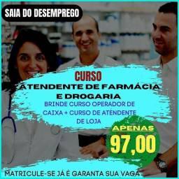Título do anúncio: Curso de Atendente de Farmácia a distância