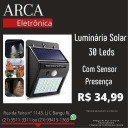 Título do anúncio: Luminária solar com detector de movimento e acendimento automático