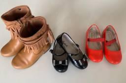 Título do anúncio: Kit 03 sapatos Infantil feminino - Tam. 26