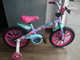Bicicleta infantil aro 16 da Frozen