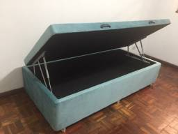 Base de cama box baú solteiro(88x40x188), apenas 10X de 63,90 no cartão
