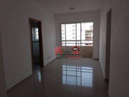 Título do anúncio: Apartamento com 2 dormitórios para alugar, 58 m² por R$ 3.400,00/mês - Gonzaga - Santos/SP