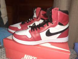 Air Jordan 1 branco e vermelho N°40