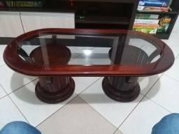 Mesa de centro Mogno com vidro