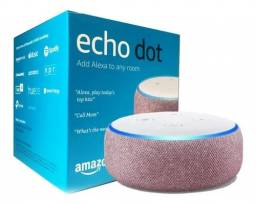 Echo Dot (3ª Geração): Smart Speaker com Alexa - Cor Rosa