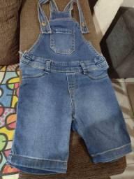 Jardineira Jeans Criança