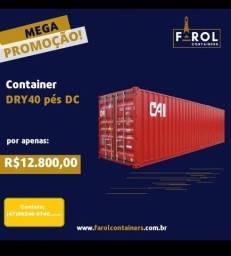 Mega promoção  containers 40 pés