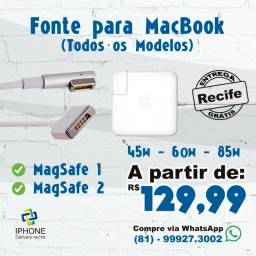 Fonte MacBook Todos os Modelos (Entrega Grátis)