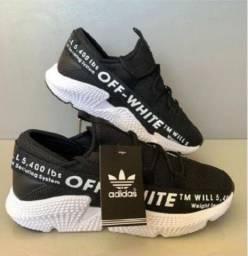 Tênis Masculino Adidas Off-White - Preto e branco!