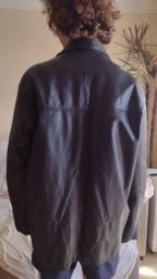 Jaqueta casaco de couro