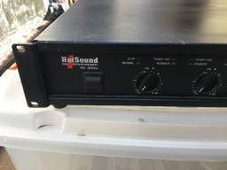 Amplificador Hotsound Hs 300 Sx Impecavel Bi Volt 300 Watts Rms Total em 4 Ohms