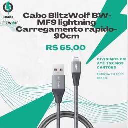 Título do anúncio: Cabo iphone Blitzwolf BW-MF9 - 90cm