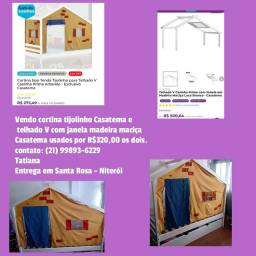 Telhado em V e tenda tijolinho Casatema