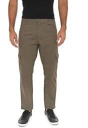 Calça Masculina Sarja Verde Slim Skinny Cargo