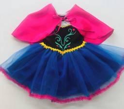 vestido fantasia anna do frozen<br>